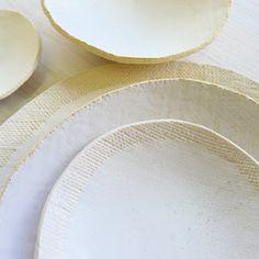 elephant ceramics: cloud white pieces