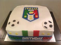 Italy soccer cake