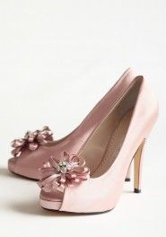 chantelle embellished heels in rose