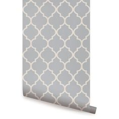 Alcott Hill Harkey 9' L x 2' W Moroccan Small Pattern Peel and Stick Wallpaper Roll Color: Light Gray