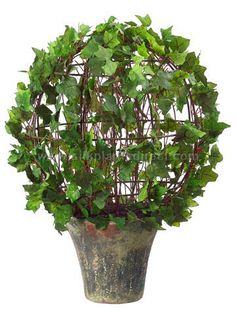 Ivy Ball Topiary (CRG-003IPLS) | Ivy Topiary - Balls, Spiral, Cones, Hedges | Artificial Topiary | Silk Plants Direct