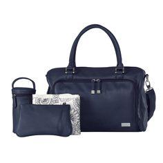 Isoki Double Zip Satchel Nappy Bag - Navy (Limited Edition)