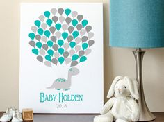 Baby Dinosaur Shower Guest Book Alternative by MadeForKeepsShop