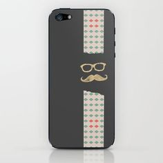 ★Society6★IPhone Case ケース ヒゲ by  Lilach Oren