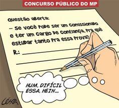 Questão de concurso público do MP... ironia
