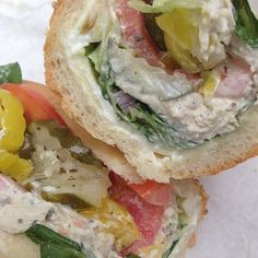 Chicken Salad Hoagie with everything and  PepperJack