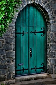 """Front door color?!?!?  thinking of """"faux"""" painting the hardware on my garage door..."""