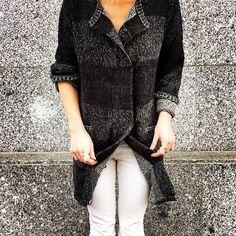 Grey Shades #aymara #knitwear #babyalpaca #cardigan On Sale 125,00€ in our web shop https://www.goodshaus.com/AYMARA-Strickjacke-Sessil-Espresso