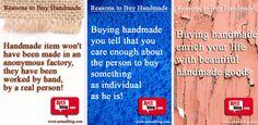 Reasons to buy HANDMADE / Причини да купувате ХЕНДМЕЙД