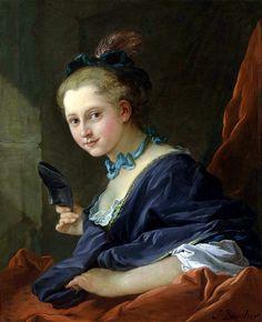 """François Boucher """"Le Soir or La Dame Allant au Bal"""", 1734"""