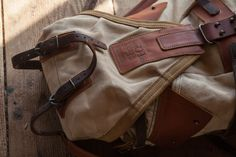 Leather and canvas backpack by Notless Orequal