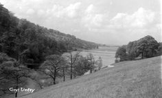 An early view of Fernilee Reservoir looking north along the recently-flooded Goyt Valley. The reservoir was opened in some 30 years before Errwood Reservoir was completed just to the south. Suspension Bridge, Peak District, Local History, 30 Years, Old Photos, Natural Beauty, National Parks, Country Roads, Building