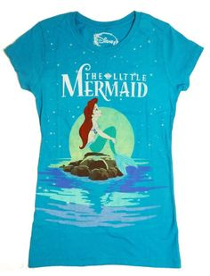 Ariel Gifts for Teen Girls:  Disney The Little Mermaid Starry Night Juniors T-Shirt @ Amazon