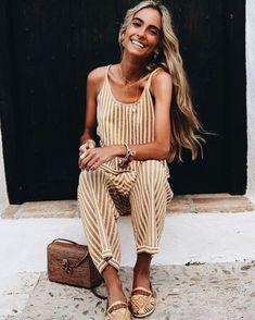 cutest little striped jumpsuit
