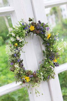 fresh flower wreath...