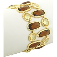 New for Fall!~Brown Topaz and Yellow CZ Fashionista Bracelet~On sale!   Exclusive Fashionista Bracelet, Bold, Colorful, Chic!