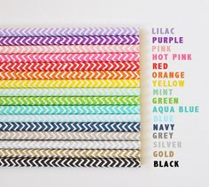 Paper Party Straws Stripes or Chevrons (set of 25) - Various Colors