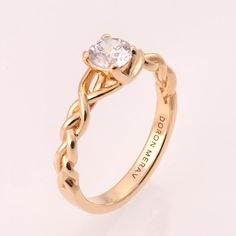 14K Gold und Diamant Verlobungsring und ein schmaler von doronmerav