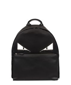 FENDI Fendi Men'S Black Leather Backpack'. #fendi #bags #leather #polyester #backpacks #