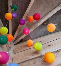 Cotton Ball Light Garland