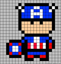 Captain America ironing bead