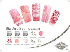 Lace and things Bio Sculpture Nails, Sculpture Art, Usa Nails, Bio Art, Lace Art, Coffee Is Life, Gel Color, Nail Art Galleries, Pink Lace