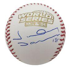Johnny Damon Signed 2004 World Series Baseball JSA COA