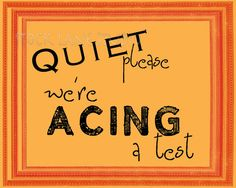 Quiet we're acing  a test printable sign Quiet by StockLaneStudio #etsy  #stocklanestudio  #test  #classroom  #teacher  #teaching  #quietsign  #shhhh  #quiet  #halloweensign