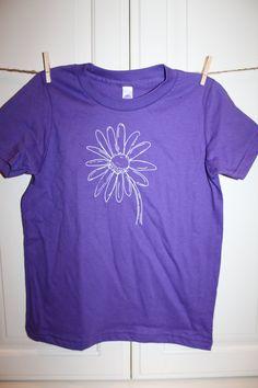 Children's ScreenPrinted Daisy Flower T-Shirt by ThisLittlePiggyNWA, $22.00
