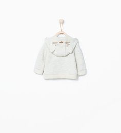 Image 3 of Sweatshirt with animal face on the hood from Zara