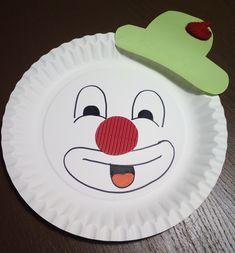 Faschingsdekoration selber basteln - Clown
