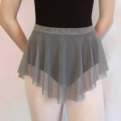 Gray Mesh Ballet Dance Skirt  SAB Style Royall by RoyallDancewear