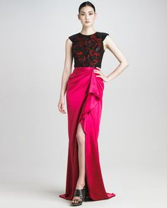 Lace-Bodice Gown by Jason Wu at Neiman Marcus.