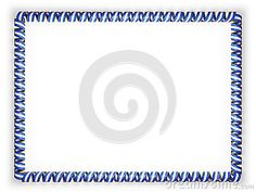 Frame and border of ribbon with the Nicaragua flag, edging from the golden rope. 3d illustration.