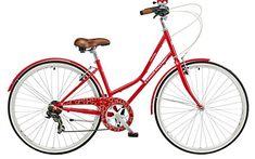 Claud Butler Cambridge Plush, Red 17/700C 6 Speed Traditional Ladies' Bike (2016)