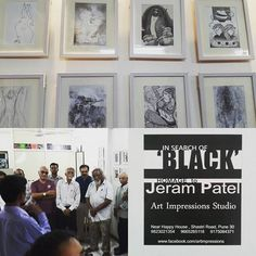 Met veteran #artists from #pune today at opening of #blackandwhiteart show #punediaries #puneinstagrammers #theartandcraftgallery #untacg