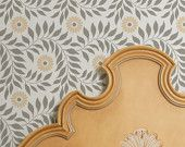 Wall Stencil Allover Indian Floral for DIY Wall Decor More Artistic Than Wall Decals and Cheaper Than Wallpaper :)