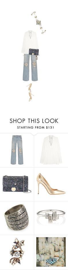 """""""Untitled #1606"""" by maja-z-94 ❤ liked on Polyvore featuring Alexander Wang, Vince, Jimmy Choo, Sergio Rossi, NOVICA, Finn and Erickson Beamon"""
