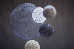 Good idea for making planets for space themed room.