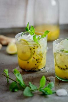 Passionfruit & Ginger cocktail    simply-delicious.co.za #recipe #drinks