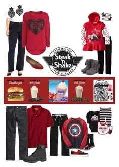 """Steak N Shake for Valentins day"" by sterlingkitten ❤ liked on Polyvore featuring Old Navy, Dickies, Trend Lab, Carter's, Vans, Matix, H&M, Timberland, Dorothy Perkins and Monsoon"