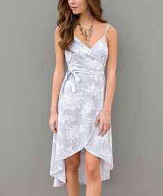 Take a look at this Haze Abstract Hi-Low Dress today!
