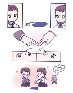 Detroit become human Connor and RK900 By: luludings