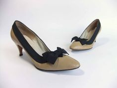 Vintage 1960s Shoes //  The Black and Tan Pumps in by FabGabs, $35.00