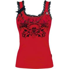 Lace Skull Top ❤ liked on Polyvore