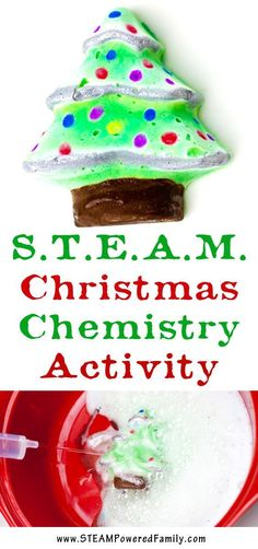A STEAM Christmas activity that incorporates some art with chemistry for some fantastic hands-on learning.  via /steampoweredfam/