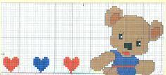 ponto cruz ursinhos bebe - Cerca con Google