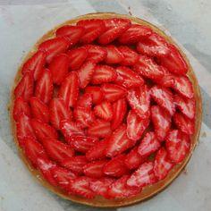 Tarte du soir  #tarte #fraises #cremedamande #cap