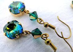 Green Mermaid Earrings by jlisiecki on Etsy