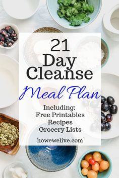 The details of starting a 21 day cleanse plan. This is a great way to reset your body and begin healing. FREE printables with meal plans grocery lists and recipes! 21 Day Cleanse, Healthy Cleanse, Cleanse Diet, Cleanse Recipes, Healthy Groceries, Healthy Meals For Two, Healthy Dinner Recipes, Easy Meals, Fall Recipes